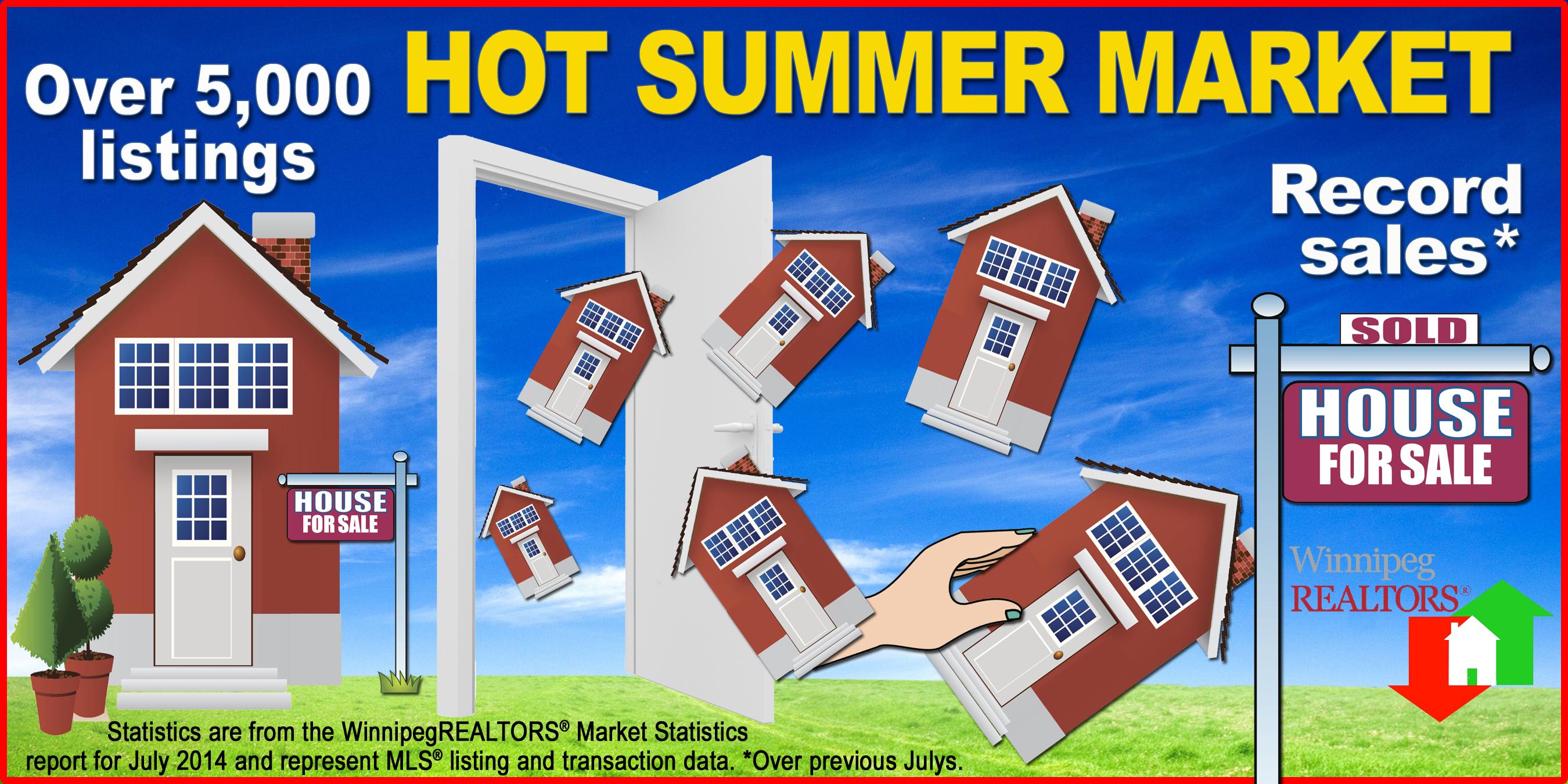 July - hot summer market copy